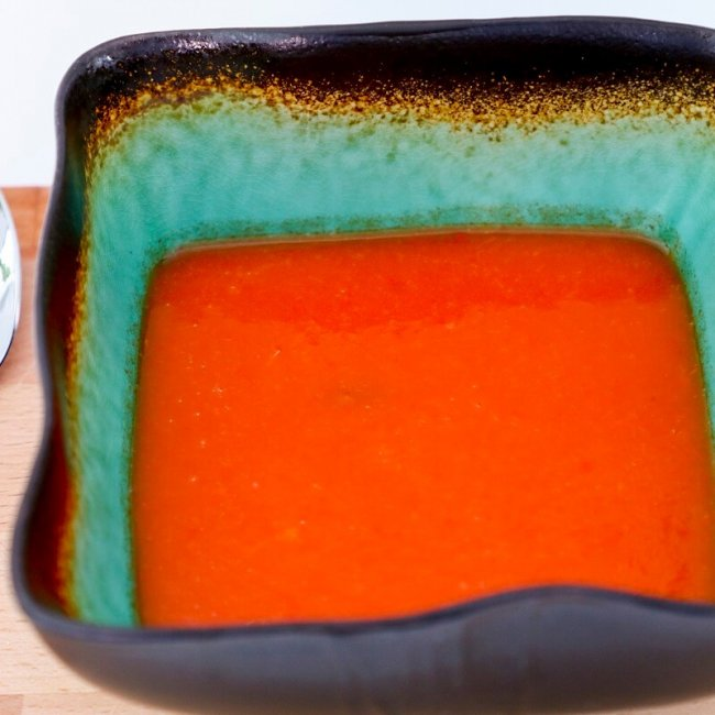 Polievka z pečených paprík