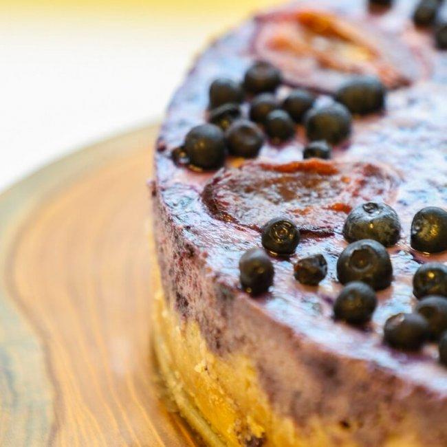 Čučoriedkový cheesecake