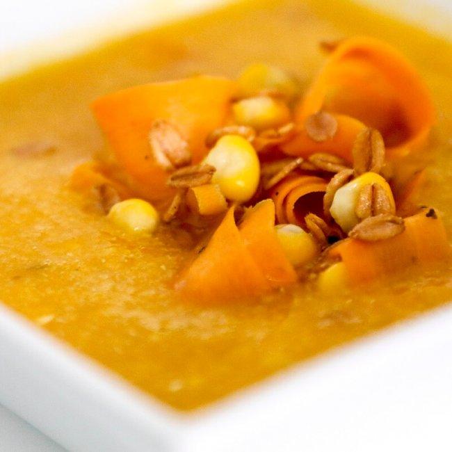 Mrkvovo-kukuricová polievka